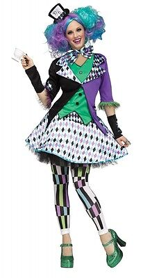 Mad Hatter Deluxe Kostüm Damen Teenager Alice im Wunderland Verrückter Hutmacher