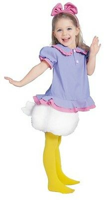 Disney Child Daisy Duck Costume Cosplay Tod Halloween Party A676 - Child Daisy Duck Costume