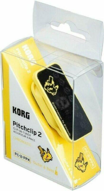 NEW Korg Limited-Edition Pokemon Pitchclip 2 Chromatic Tuner, Pikachu - PC-2-PPK