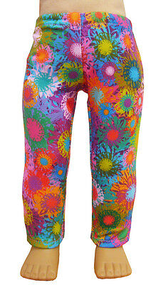 Made in the USA Colorful Splatter Leggings fits 18