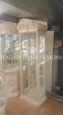 MEDUSA Italian Cream & Gold 1 Door Display Cabinet