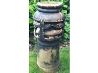 Vintage glazed Victorian chimney pot