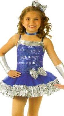 Spotlight Dance Costume Ruffled Dress Jazz Tap Ballet Clearance Child Medium](Spotlight Dress Up Costumes)
