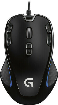 Logitech G300S Wired Optical 9-Button Gaming Mouse with RGB Lighting Black *New*