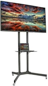 NEW VIVO TV Cart for LCD LED Plasma Flat Panel Stand with Wheels Mobile fits 32'' to 65'' (STAND-TV03E) Condition: New