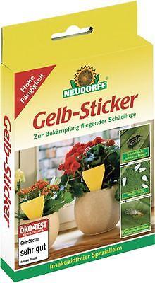 Neudorff Gelbsticker Leimfallen 5 Stück - Gelbtafeln Fliegenfalle Blumenschutz