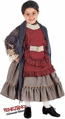 Italienische Herstellung Mädchen Alt Damen Oma Halloween Kostüm Kleid - Italienische Halloween Kostüm