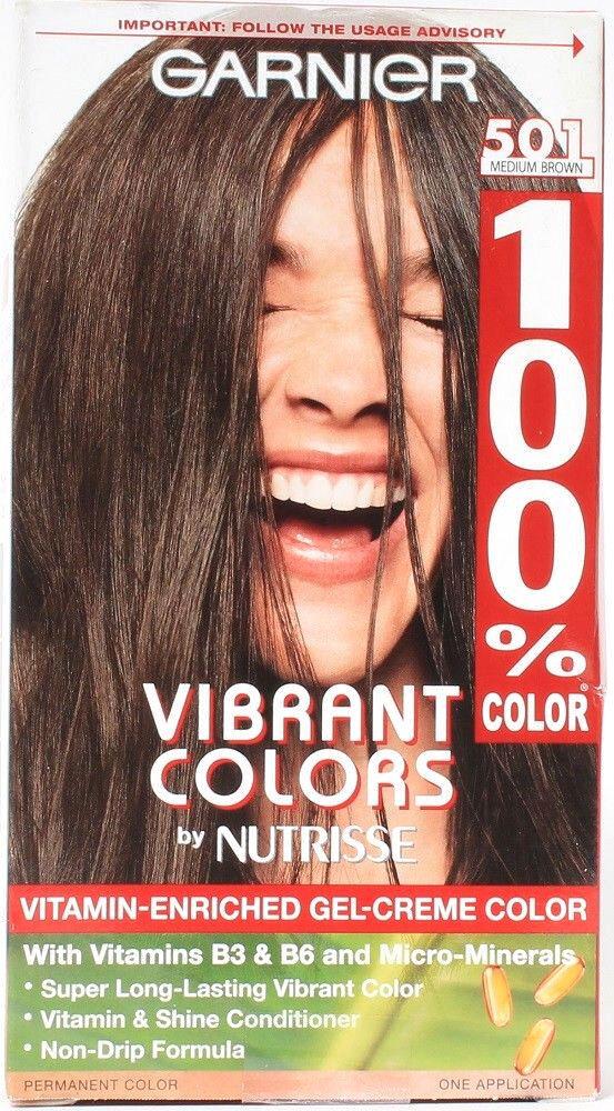 Garnier 100% Color Intense Gel-Creme Color, Permanent, Mediu