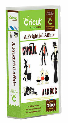 CRICUT *A FRIGHTFUL AFFAIR* HALLOWEEN ART CARTRIDGE *NEW* FONT, PHRASES & - Font Halloween