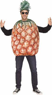 Lustiges Ananas Herren Kostüm Oberteil und Hut Frucht Obst Verkleidung - Lustige Karneval Kostüm