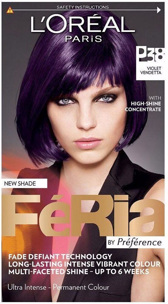 L Or 233 Al Paris Feria Preference P38 Violet Vendetta Hair