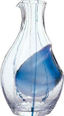 Japanese Sake Bottle With Ice Pocket Carafe 300ml Blue With Tracking From Japan