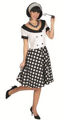 Fifties Kleid Sandy Rockabilly 50er Jahre Retro Polka Dot Kostüm Fasching Party (Polka Dot Kostüm)