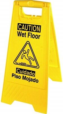 Universal Graphic Wet Floor Sign Foldable English And Spanish Warning Message