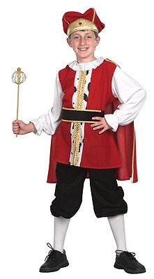 Mittelalterlicher König Kinderkostüm NEU - Jungen Karneval Fasching - Kind Mittelalterlicher König Kostüm