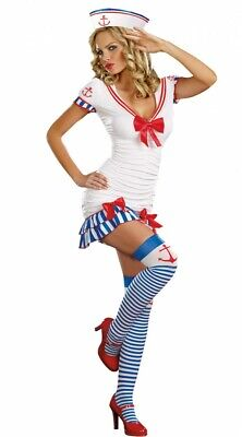 Matrosen-Kostüm SEXY SAILOR PINUP Gr. S/M Sailor Damen (Damen Sexy Matrose Kostüm)