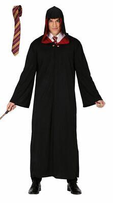 Zauberer Robe Mantel mit Kapuze Gr. L + Krawatte Erwachsene Umhang Herren Kostüm