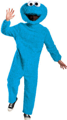 COOKIE MONSTER Plush Adult Halloween COSPLAY Sesame Street Disguise Costume Suit