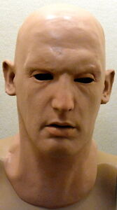 Realistic Male Man Latex Mask Disguise Halloween Costume Movie Star Famous Actor