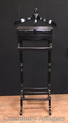 Victorian Valet Black Lacquer Butlers Shirt Trouser Stand