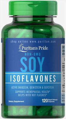 Puritans Pride Non Gmo Soy Isoflavones 750 Mg   120 Rapid Release Capsules