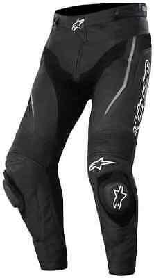 ALPINESTARS TRACK PANTS - MOTORCYCLE BIKE RIDING RACING LEATHER TROUSERS - BLACK Alpinestars Track Pants