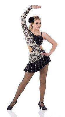 Salsa Lyrisch Tango Tanzkleid Kostüm Ballett Jazz Stepp Cxs-Adult (Tango Ballett Kostüm)