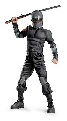 GI Joe Retaliation Snake Eyes Classic Muscle Child Costume (Snake Eye Kostüme)