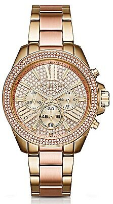 Michael Kors  - Ladies Wren Crystal Pave Dial Chronograph Watch - MK6453
