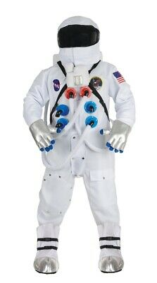 Space Suit Halloween Costume (Astronaut Adult Deluxe White NASA Suit Costume Space Halloween Teen Boys)
