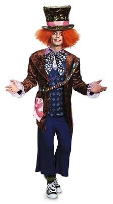 Mad Hatter Deluxe Adult Mens Costume, Blue/Brown, Disguise