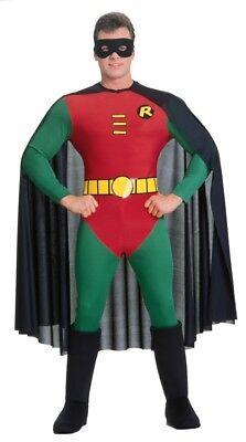 Robin Lusso da Uomo Adulto Costume Batman Sidekick Dc Comics Halloween