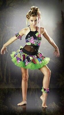 Neytiri Dance Costume Mardi Gras Baby Tap Swing Jazz Clearance Child X-Small (Clearance Baby Swing)