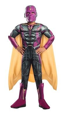 Avengers 2: Age of Ultron Deluxe Vision Child Costume, 610452, Rubies