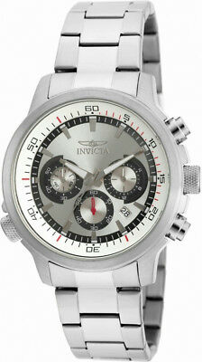 Invicta Specialty 19239 Mens Round Analog Chronograph Date Silver Tone Watch
