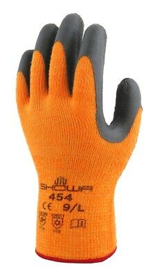 Showa Atlas 454 Therma Fit Insulated Gloves Hi Vis - Size S M L Xl Xxl