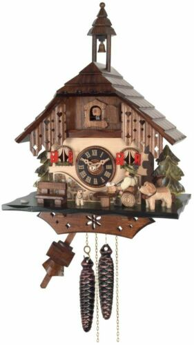 NEW  One Day Black Forest Cottage Cuckoo Clock - Beer Drinker Raises Mug  20-13
