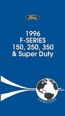 1996 Ford Super Duty F Series Truck Owners Manual User Guide Operator Book OEM