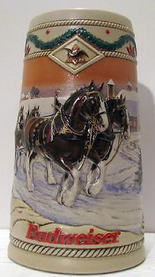Budweiser Beer 1996 Holiday Stein American Homestead