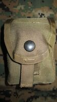 USMC & US Army SDS Molle II Coyote Brown Hand Grenade Pouch New.