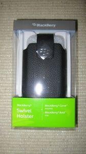 BlackBerry 9300 Leather Swivel Holster