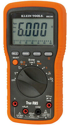 Klein Multimeter Test Meter Mm2300a Tester Voltmeter True Rms Wthermocouple R