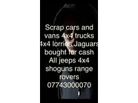 Faulty damaged unwanted vehicles wanted