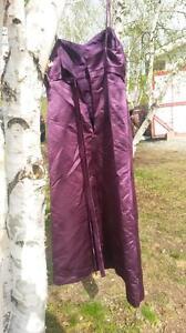beautiful purple dress size 18