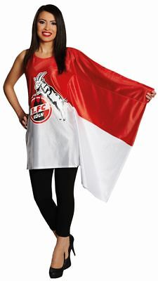 Rub - Damen Kostüm Flaggenkleid 1.FC Köln Karneval - Damen Fußball Kostüm