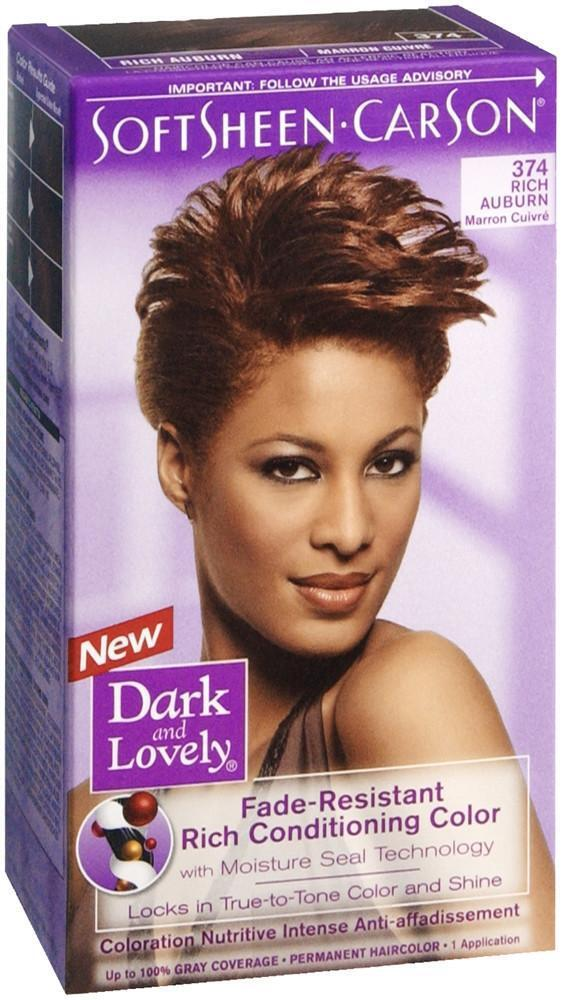 Dark And Lovely Fade Resist Rich Conditioning Color 374rich Auburn