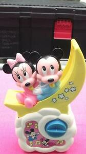 VINTAGE DISNEY MICKEY & MINNIE  CRIB MUSICAL TOY