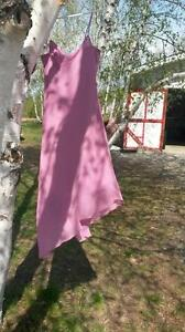 knee length pink dress size 12