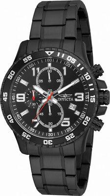 Invicta Specialty 16933 Mens Round Black Analog Chronograph Date Gunmetal Watch