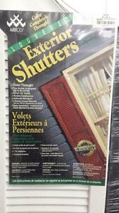 Abtco Vinyl Louvered Exterior Shutters